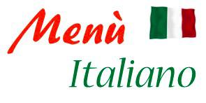 Menu Italiano - Restaurant Scala