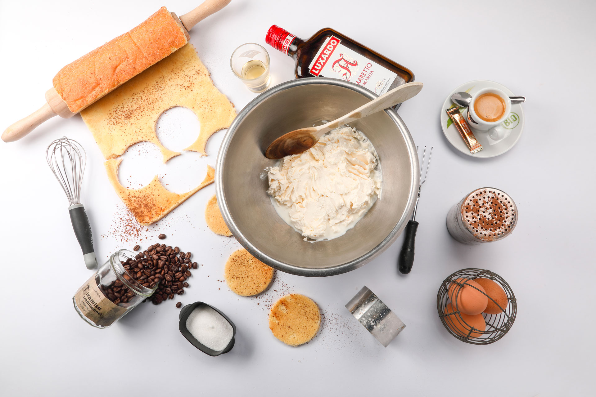 Ingrédients de la recette du tiramisu - La Scaleta