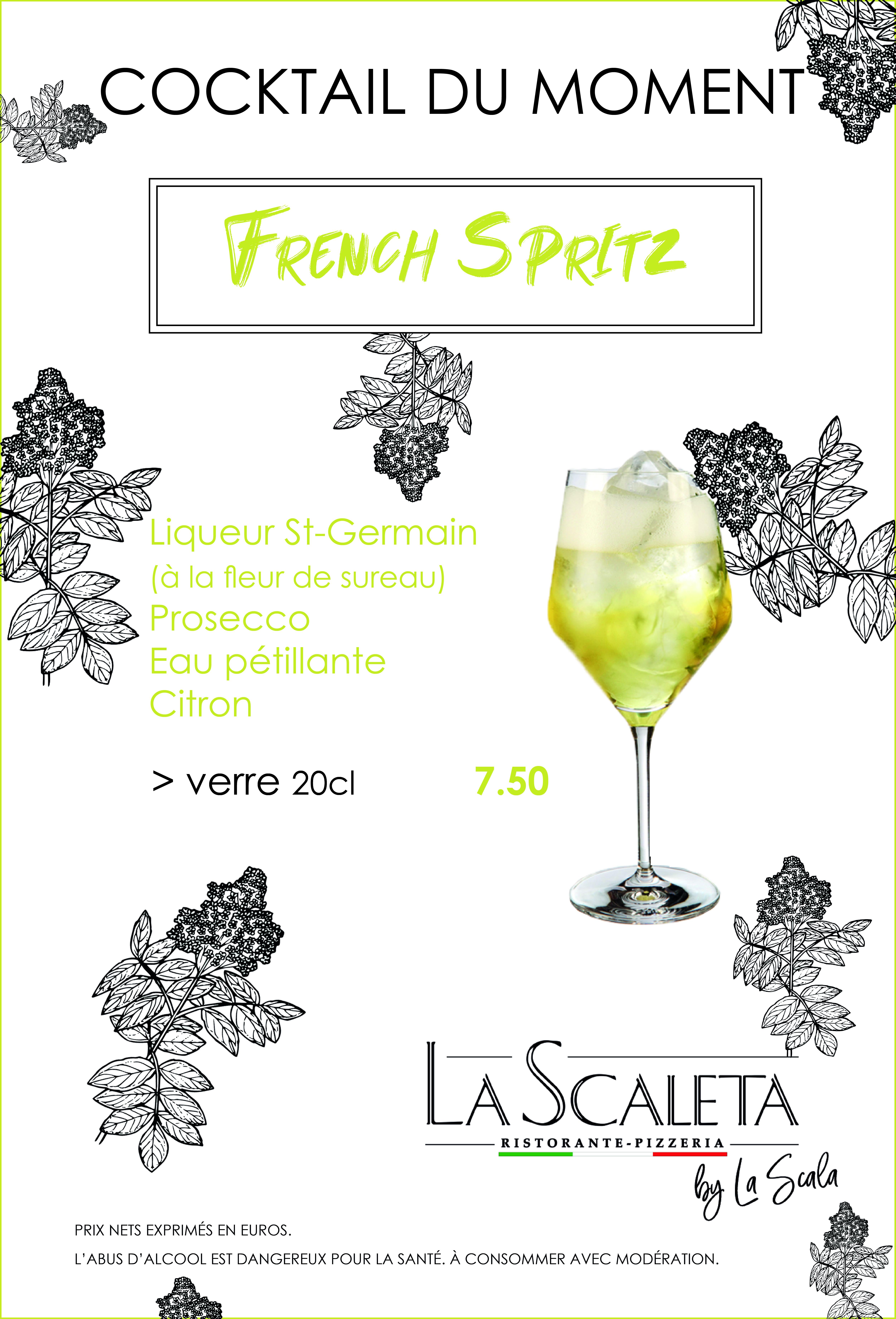 Suggestions cocktails de moment french spritz - La Scaleta